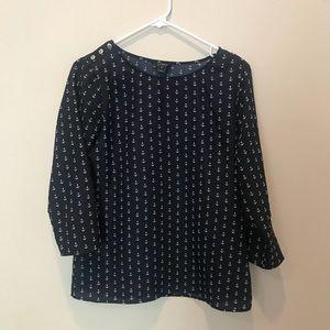 Jcrew anchor blouse